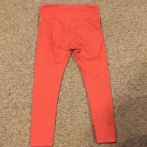orange/ coral fabletics leggings